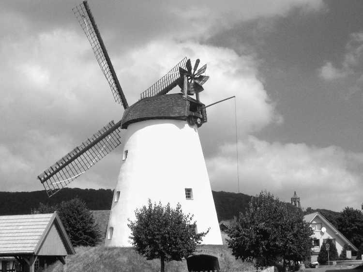 »Windmühle Holzhausen a.d. Porta«, Mühle Nr. 38 (Wall-Holländer), Hackfeldstraße 56, 32457 Porta Westfalica-Holzhausen, Foto © Friedhelm Denkeler 2007