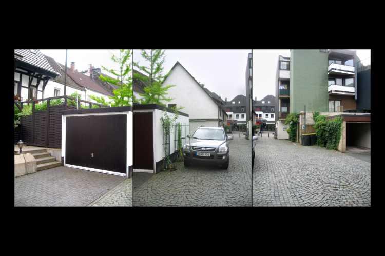 Aus dem Portfolio »Sauerlandgaragen – Unser Dorf soll schöner werden«, Foto/ Collage © Friedhelm Denkeler 2008