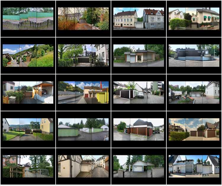 Indexprint des Portfolios »Sauerland-Garagen«, Fotos/Collagen © Friedhelm Denkeler 2008